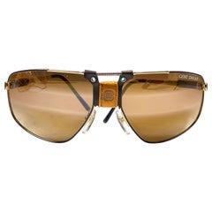 New Vintage Cebe Dakar Gold Lens, Miles Davis 1980's Sunglasses