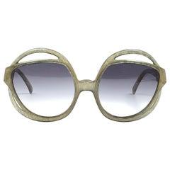 New Vintage Christian Dior 2027 60 Green Jasped Optyl Sunglasses