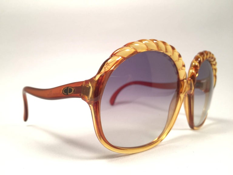 e687dea806f Brown Christian Dior 2062 Vintage Amber Oversized Optyl Sunglasses