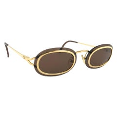 New Vintage Christian Dior 2970  Oval Small Gold Optyl Sunglasses