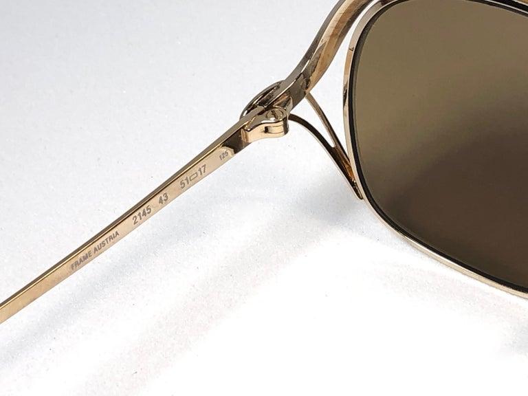 New Vintage Christian Dior Enamel Gold & Burgundy Sunglasses Austria For Sale 1