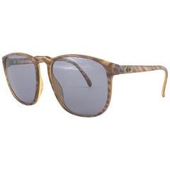 New Vintage Christian Dior Monsieur 2226 Oversized Gold Amber Sunglasses 1970