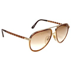 New Vintage Christian Dior Monsieur Large 2526 57 Sunglasses 1970's Austria