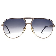 New Vintage Christian Dior Monsieur Silver & Gold 2426 Optyl Germany Sunglasses