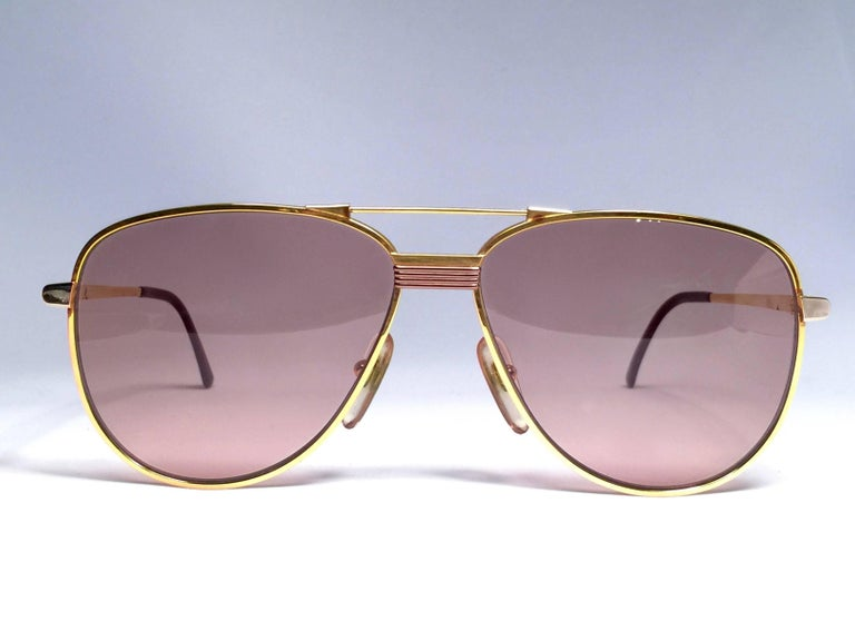 Christian Dior Monsieur Titanium Gold Optyl Germany Sunglasses In New Condition For Sale In Amsterdam, Noord Holland