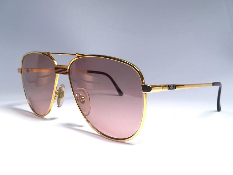 Women's or Men's Christian Dior Monsieur Titanium Gold Optyl Germany Sunglasses For Sale