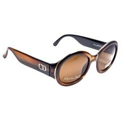 New Vintage Christian Dior Rondior 13X Amber Sunglasses 1990's Austria