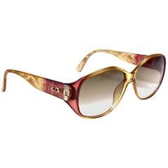 New Vintage Christian Dior Tortoise 2491 Translucent Sunglasses 1990's Austria