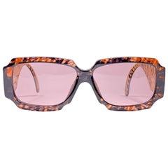 New Vintage Christian Lacroix 7356 Oversized Sunglasses, 1980