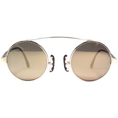 New Vintage Christian Lacroix Round Gold Accents 1980 France Sunglasses