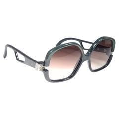 New Vintage Cobra Optyl Jade Green Oversized Brutalist Optyl Sunglasses