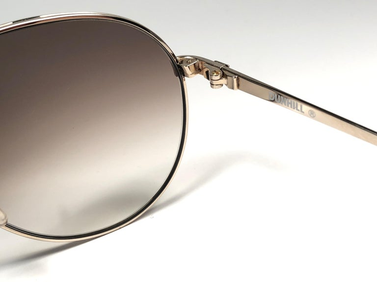 Women's or Men's New Vintage Dunhill 6042 Laque Details Frame Aviator Sunglasses France  For Sale