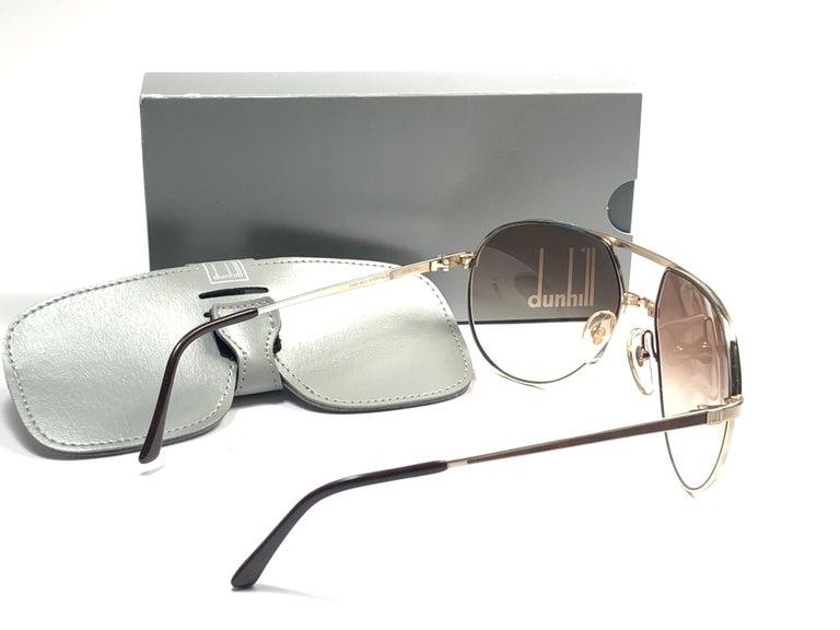 New Vintage Dunhill 6042 Laque Details Frame Aviator Sunglasses France  For Sale 2
