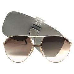 New Vintage Dunhill 6042 Laque Details Frame Aviator Sunglasses France