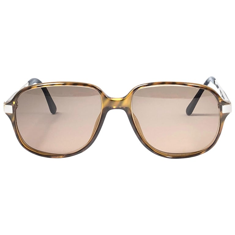 New Vintage Dunhill 6047 Real Wood Trims Lenses Sunglasses France  For Sale