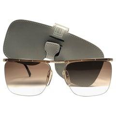 New Vintage Dunhill 6056 Real Horn Trims Details Half Frame Sunglasses France