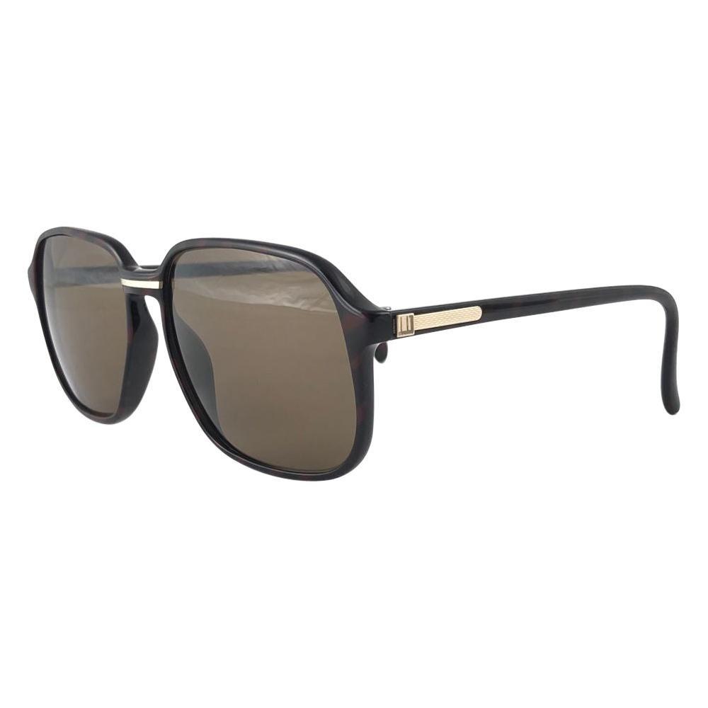 New Vintage Dunhill 6060 Dark Tortoise Oversized Sunglasses France