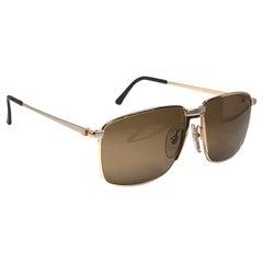 New Vintage Dunhill 6071 Oversized Frame Brown Lenses Sunglasses France