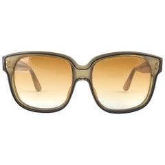 New Vintage Emanuelle Khanh Paris 8080 Honey Gradient lenses Sunglasses France