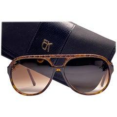New Vintage Emmanuelle Khahn Phyton 9171 Accents Sunglasses France