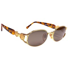 New Vintage Fendi FS262 Tortoise & Gold  1990 Sunglasses Made in Italy