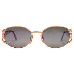 New Vintage Fendi FS296 Rose Gold Oval 1990 Sunglasses Made in Italy