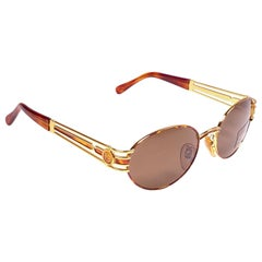 New Vintage Fendi SL7030 Tortoise & Gold  1990 Sunglasses Made in Italy