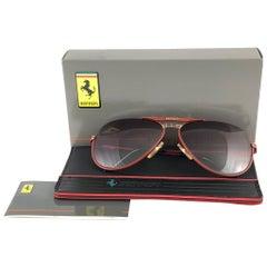 New Vintage Ferrari F3 Purple Gradient Lenses 1980 Made in Italy Sunglasses