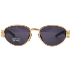 New Vintage Gianfranco Ferré 324 Gold & Strass 1990  Italy Sunglasses