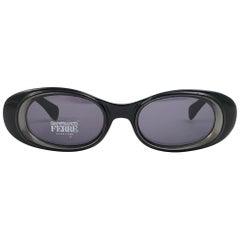 New Vintage Gianfranco Ferré 420 Sleek Black 1990  Made in Italy Sunglasses