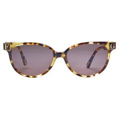 New Vintage Gianfranco Ferré GFF 105 Gold / Tortoise 1990 Italy Sunglasses