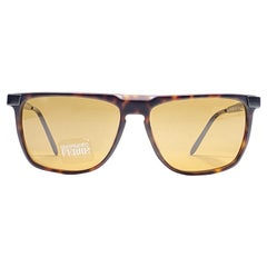 New Vintage Gianfranco Ferré GFF 320 Black  / Dark Amber 1990 Italy Sunglasses