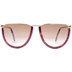 New Vintage Gianfranco Ferré GFF10 Gold / Tortoise 1990  Italy Sunglasses