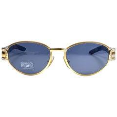 New Vintage Gianfranco Ferré GFF324 Gold Strass Cat Eye 1990  Italy Sunglasses