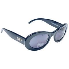 New Vintage Gianfranco Ferré GFF325 Black & Gold 1990  Italy Sunglasses