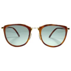 New Vintage Gianfranco Ferré GFF60 Tortoise & Gold 1990  Italy Sunglasses