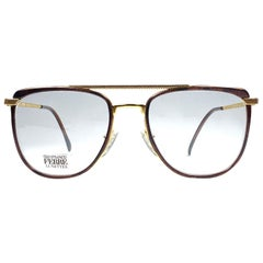 New Vintage Gianfranco Ferré GFF73 Tortoise & Gold 1990  Italy Sunglasses