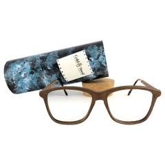 New Vintage Gold & Wood 605006 Genuine RX Glasses 1980's France