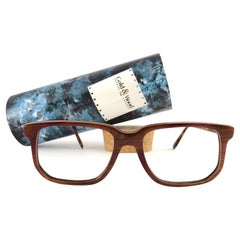 New Vintage Gold & Wood 710 Lacquered Genuine RX Glasses 1980's France
