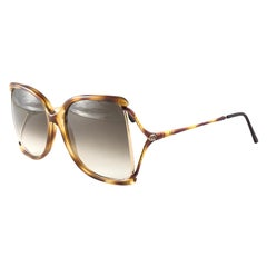 New Vintage Gucci 2302 Tortoise & Gold Accents Sunglasses 1990's Made in Italy