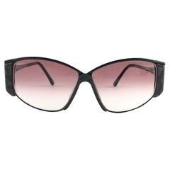 New Vintage Gucci 2308 Black Cat Eye Sunglasses 1990's Made in Italy