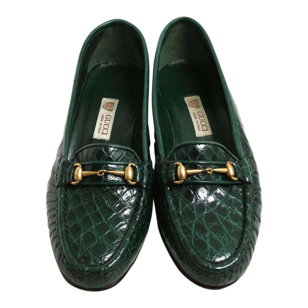 Vintage Gucci Emerald Green Crocodile