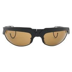 New Vintage IDC G2 Marithe Francois Girbaud Folding Black mate Sunglasses France
