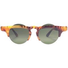 New Vintage IDC Lunettes Small Frame Tortoise 1980's Sunglasses France