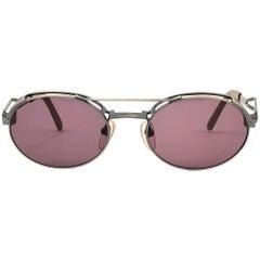 New Vintage Jean Paul Gaultier 56 0171 Silver Matte Japan Sunglasses Japan