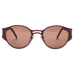 New Vintage Jean Paul Gaultier 56 5105 Metallic Red Japan Sunglasses Japan