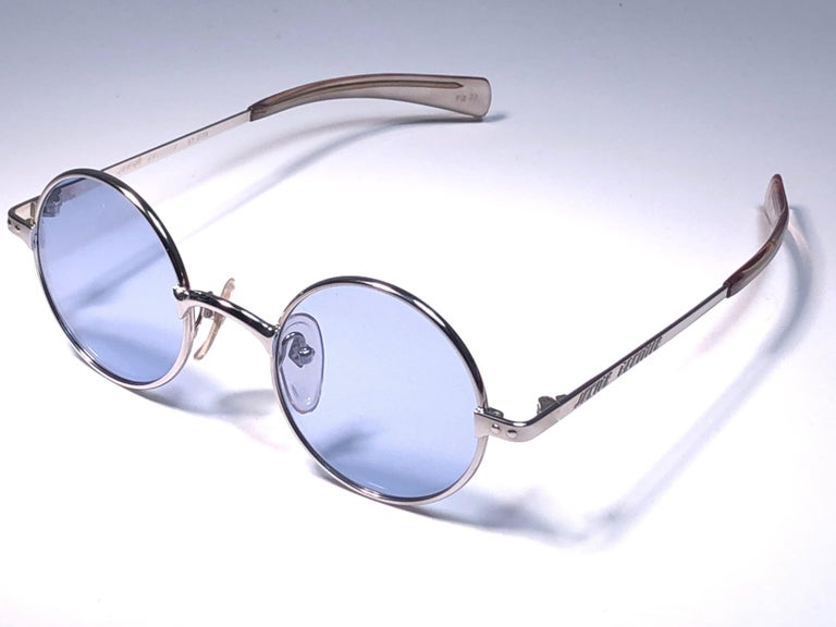 Purple New Vintage Jean Paul Gaultier Junior 57 0173 Small Round Leon Japan Sunglasses  For Sale