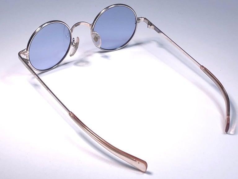 New Vintage Jean Paul Gaultier Junior 57 0173 Small Round Leon Japan Sunglasses  For Sale 2