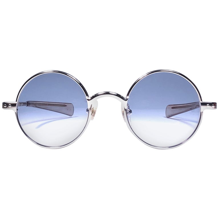 New Vintage Jean Paul Gaultier Junior 57 0173 Small Round Leon Japan Sunglasses  For Sale