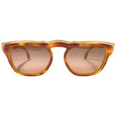 New Vintage Karl Lagerfeld 4603 Marble Gold & Brown 1980 Germany Sunglasses